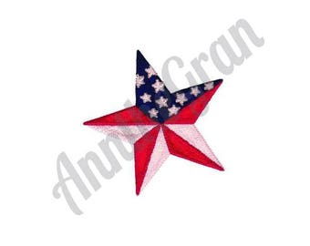 Star Embroidery Design. American Flag Embroidery Design. Machine Embroidery Design. Patriotic Embroidery Design. July 4th Embroidery Design