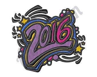 2016 New Year - Machine Embroidery Design