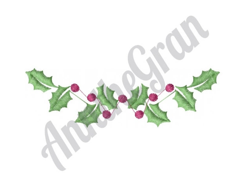 Christmas Holly Border Holly Border Pattern Christmas Embroidery