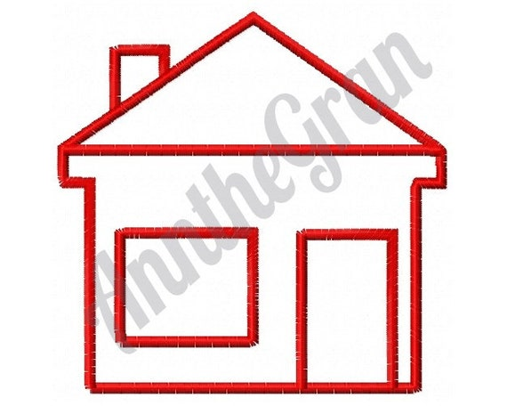 House Outline Embroidery Design Machine Embroidery Design Etsy