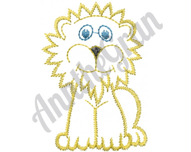 Baby Lion Outline Machine Embroidery Design Children Etsy This set includes a baby chimpanzee, gorilla and orangutan. etsy