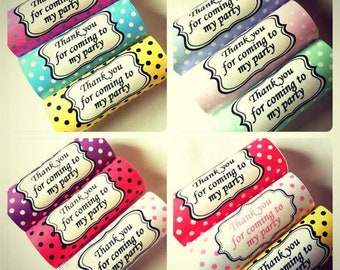 12 x Personalised Kitkat Wrappers Vintage Polka Dot