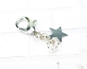 Mini Star and Gem Planner Charm - Traveler's Notebook Jewelry