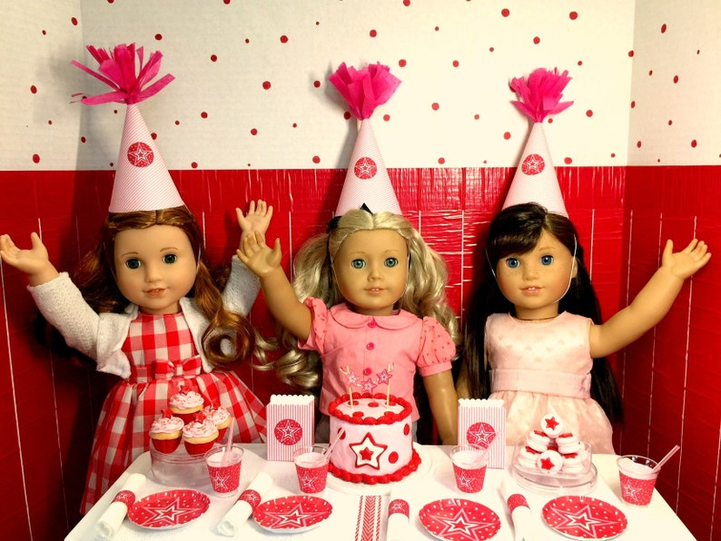 Party Supplies For American Girl Doll Birthday 18 Doll Etsy