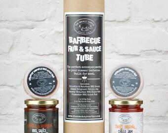 Barbecue Rub And Sauce Tube Gift Set