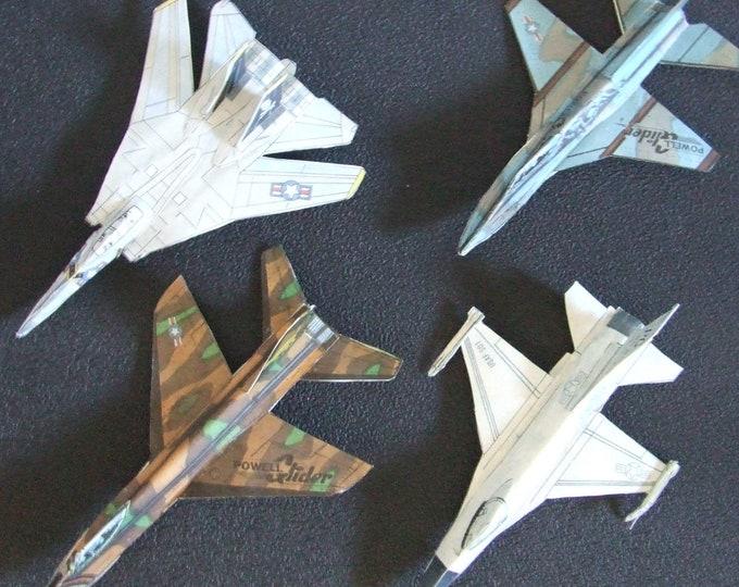 Set #2 - 4 Cut & Glue Paper Airplane Gliders