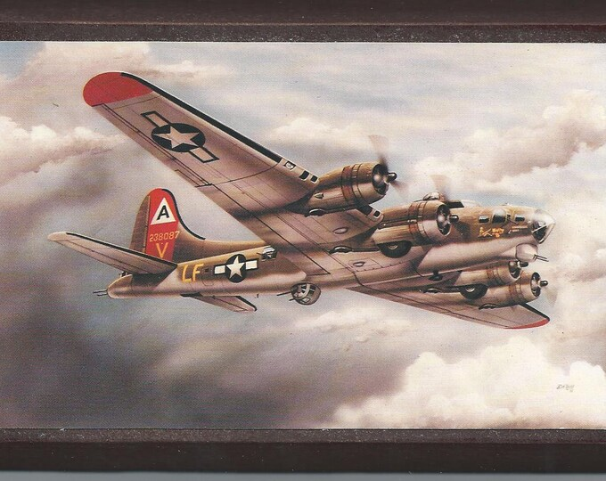 """4"""" X 6""""  Boeing B-17 Flying Fortress WWII Aircraft Wooden Plaque"""