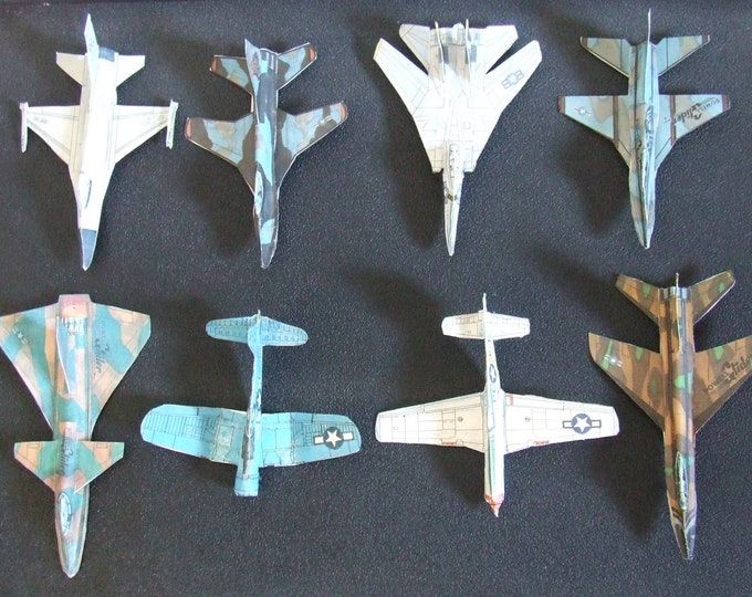 NINE Cut & Glue Paper Airplane Glider Kits (BONUS F-15 Falcon included for FREE)