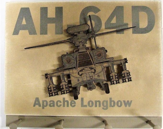 "U.S. Military Boeing AH-64D Apache - ""Longbow"" Helicopter Keychain Display Rack"