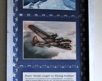 """History of B-9 to B-17 WWII Aircraft Framed 5"""" X 7"""" Prints in a Silver Frame"""