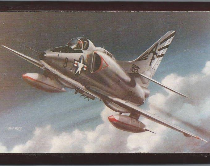 """4"""" X 6"""" McDonnell Douglas A-4 Skyhawk wooden plaque"""