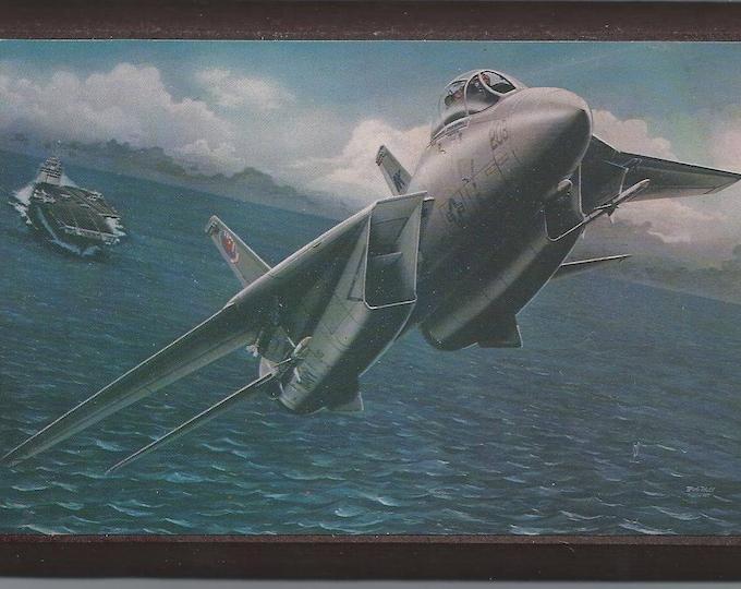 """4"""" X 6"""" Grumman F-14 Tomcat wooden plaque"""