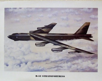 """12"""" X 16"""" unframed print of a Boeing B-52 Stratofortress bomber over the sands of Iraq during Desert Storm"""