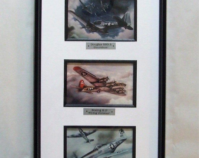 Three Famous WWII Warbirds (framed)