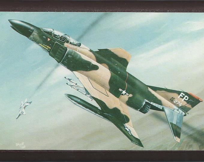 "4"" X 6"" McDonnell Douglas F-4 Phantom wooden plaque"