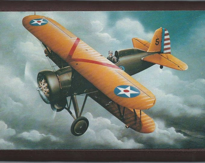 "4"" X 6"" Boeing P-12E (Boeing 100) wooden plaque"