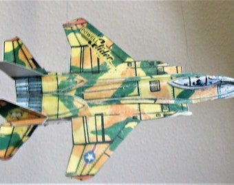 F-15 Eagle Fighter Aircraft Cut & Glue Flying Paper Airplane Glider Kit