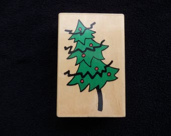 Christmas Tree Stamp  - Forest- Christmas - WM rubber stamp (1)
