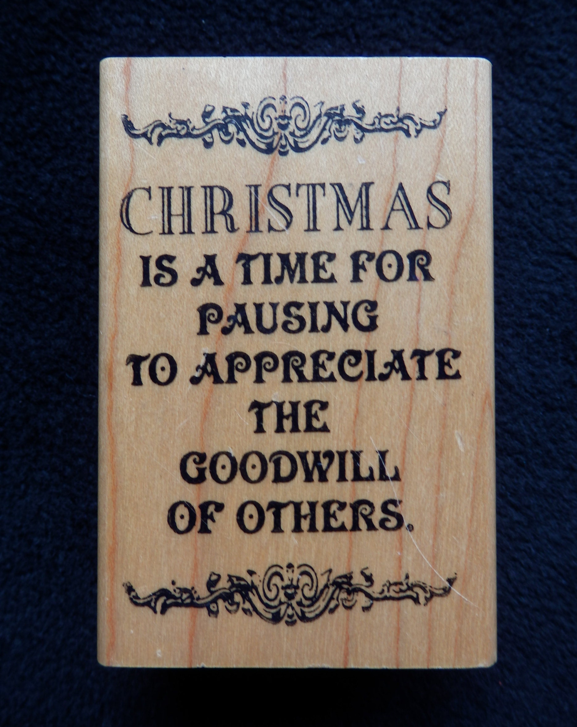 Christmas Goodwill Appreciation Wood mount rubber stamp | Etsy