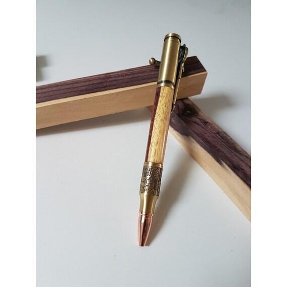 Stylo bille du chasseur en bois aubier de Violette avec aubier bois 1b12ef  ... 51ba9463fb8