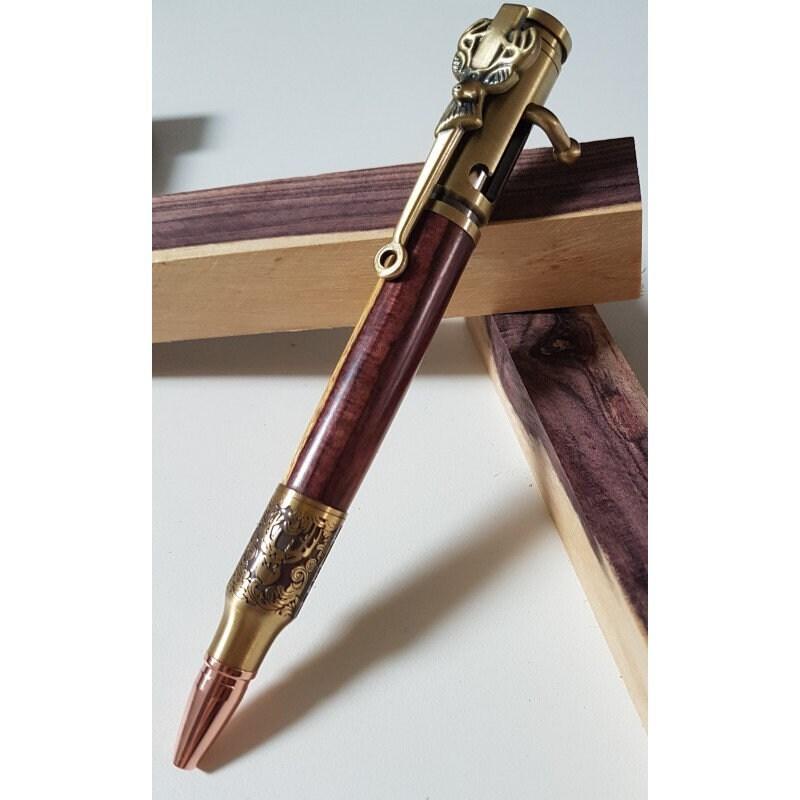 Stylo bille du chasseur en bois aubier de Violette avec aubier bois 1b12ef 07b8959a619