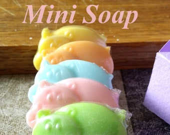 Fiona the Hippo Kids soap Toy soap Kids birthday Hippo soap Mini soap Soap favors For kids Baby shower Gift set Wedding favors Play soap