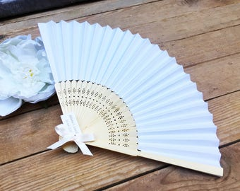Fans of wood and paper with Ribbon and custom label by Feeline creation