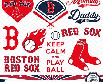 Boston Red Sox baseball team, baseball league, baseball logo, STS-004