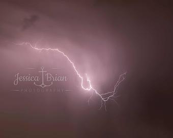 Lightning Strike Wall Art Photographic Print
