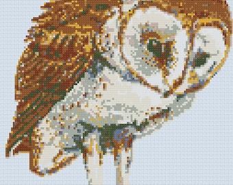 Barn Owl cross-stitch Pattern