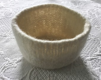 Hand made felted wool bowl