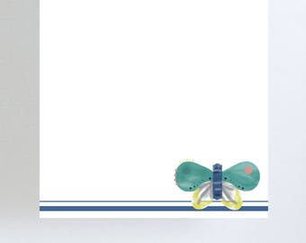 Watercolor Butterfly Notepad