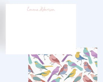 Bird Print Stationary//Thank You Notes