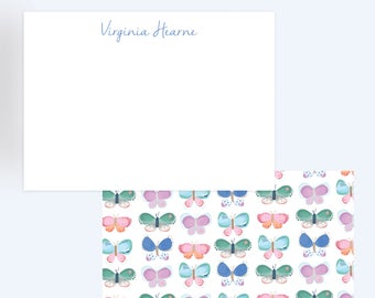 Butterfly Print Stationary//Thank You Notes
