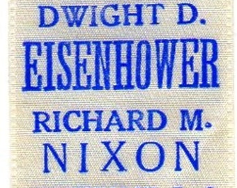 1957 Eisenhower Nixon Original Inaugural Collectible ribbon