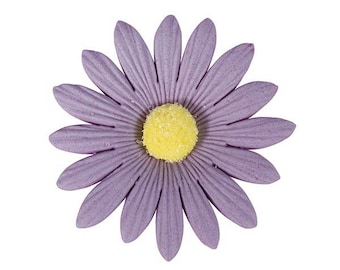 2 Sugarsoft Daisy's - Lilac Birthday / Wedding Cake Topper Decorations