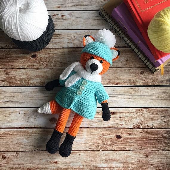 Gefüllte Fuchshäkeln Fuchsamigurumi Tiere Kinderzimmer Etsy