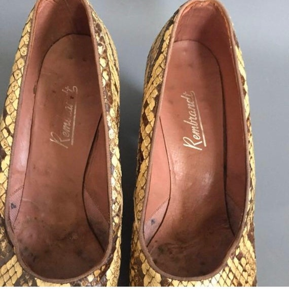 1940s snakeskin shoes - image 3