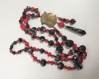 Egyptian revival necklace- restrung