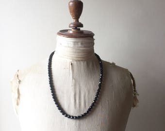 1930s french jet necklace