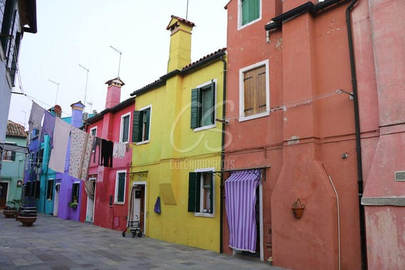 Laundry on the Line in Burano, Italy