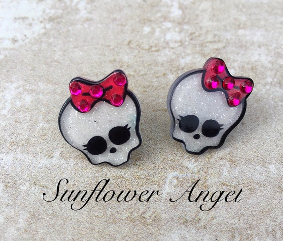 Sugar Skull Day Of The Dead Mexican Cute Girl Earrings