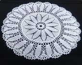 New white crochet doily 20 inches-crochet tablecloth