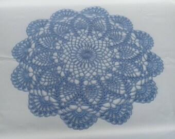 READY TO SHIP blue crochet doily 15,7 inches-crochet tablecloth-crochet doilies-doily-handmade gift-light blue doily-crochet napkin