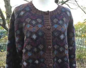 Vintage Wool Cardigan Sweater