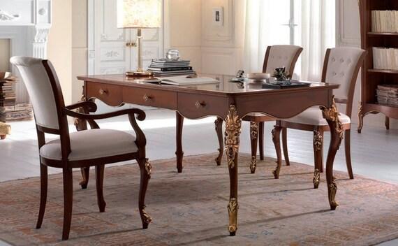 Bureau sculptÉe jambes meubles de luxe bureau de style etsy