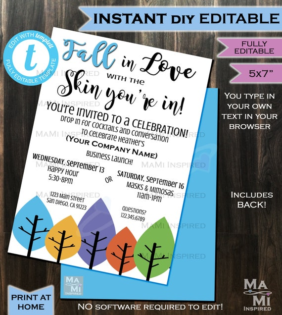 Rodan Fields Invitation Business Launch Party Bbl Invite Rf Etsy