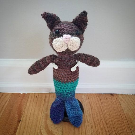 Crocheted Purple Purrmaid