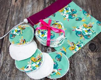 Handmade re-usable eco makeup remover pads - bamboo & cotton