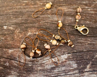 Handmade stitch markers - loop style - knitting